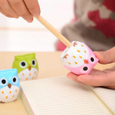 2pcs Cute Lovely Owl Pattern Pencil Sharpener School Kid's Favorite Beautiful