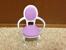 1997 Barbie Doll House Purple Dining Table Chair Formal Home Room Furniture