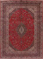Vintage 8x11 Traditional Floral Area Rug Wool Hand-Knotted Living Room Carpet