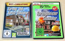 2 PC SPIELE SET - SIMULATOR SPRENGMEISTER SPRENG & ABRISS SIMULATION