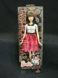 Barbie Fashionistas Doll 19 Ruby Red Floral New 2015 Mattel Asian Doll