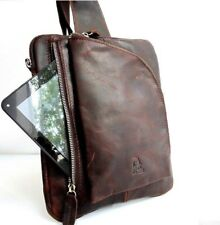 Genuine Top Grain leather man woman Bag fit ipad mini 2 3 4 Business Briefcase