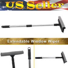 Telescopic Extendable Window Squeegee Cleaner Scrubber Brush Wiper Sponge FAST