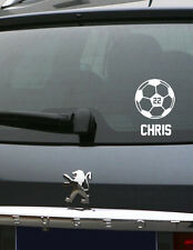 Personalized Soccer Car Vinyl Decal Spirit Sticker