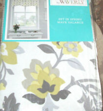 WAVERLY Wave Valance (1) SET IN SPRING Sterling gray yellow OTHERS AVAILABLE