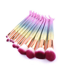 10Pcs Mermaid Makeup Brushes Cosmetic Tool Eyeshadow Powder Blush Brush Set HYB