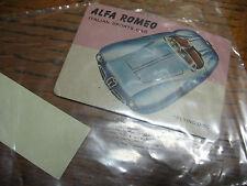 ALFA  ROMEO 'FLYING DISC' TRADING CARD  WORLD  ON WHEELS  # 59  CARS MAGAZINE