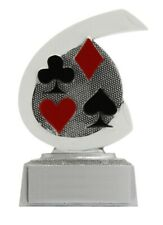 Cards Trophy resin 10 cm free engraving up to 45 letters