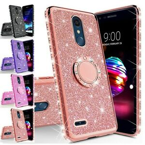 For LG Stylo 5 / Stylo 5 Plus Luxury Bling Diamond Ring Stand Phone Case Cover