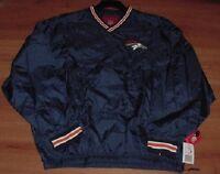 Denver Broncos Pullover Jacket Medium Double Embroidered Logos NFL