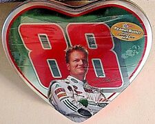 DALE EARNHARDT JR. 2009 #88 HEART SHAPED COLLECTIBLE TIN WCHOCOLATE CANDY CARS