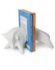 Bookends Bull Modern Jonathan Adler White Ceramic Pottery Barn  $138 Retail
