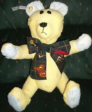 """New Handmade 18"""" Fully Jointed Teddy  00004000 Bear 40s Chenille Bedspread Nwt valentine"""
