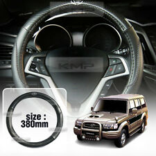 Carbon Steering Wheel Cover Glossy Urethan 380mm for HYUNDAI 2001-2003 Galloper