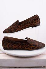 Massimo Dutti Womens Animal Leopard Loafers Sz 11 Eu 42 Flats Shoes 1240/021 New