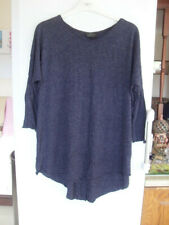 Topshop Maternity Navy blue marl stretch tunic/top - Size 8