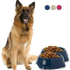 DogCentre® 2x Plastic Non Slip Dog Puppy Pet Animal Feeding Food Water Bowl Dish