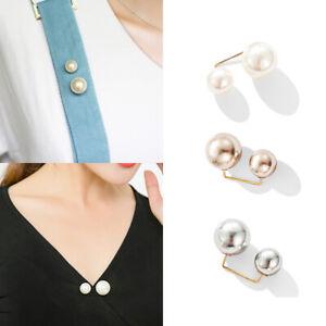 3er Anti-Blend Ausschnitt Brosche ünstliche Perle für Bekleidung Kleid Schmuck