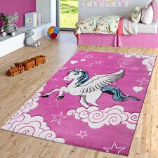 Kinderteppich Pink Fuchsia Das Fliegende Einhorn Spielteppich
