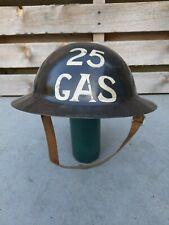 More details for ww1 brodie helmet ww2 civil defense home front helmet gas
