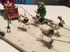 Day Of The Dead - Christmas Santa Reindeer Elves Art Sculpture OOAK