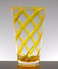 Set of 8 Helix Acrylic Plastic Iced Tea Cup Drinking Glass Tumbler Yellow 22oz