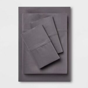 400 Thread Count Solid Performance Sheet Set - Threshold-California King-Gray