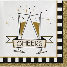 Midnight Celebration 16 Ct Beverage Napkins New Years Eve Party