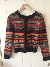 LeShop Womens Xmas Christmas Cardigan Sweater Knitted Size 6-8