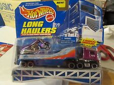 Hot Wheels Long Haulers over the Road Power Transporter w/ Motorcycle