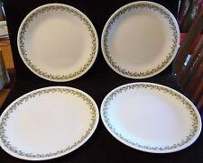 "4 Retro Kitchen Crazy Daisy Spring Blossom Corelle Corning 10 1/4"" Dinner Plates"