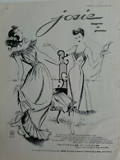 1949 women's Josie lingerie slip is prettier vintage fashion ad