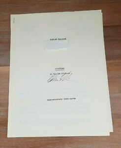 STUFFING - Photocopy of Typed Manuscript - Harlan Ellison - SIGNED - Angry Candy