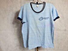 Vintage 1970s Gettysburg College Ringer Burnout Distressed Tee Shirt Retro Sport