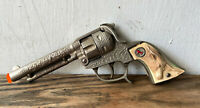 Vintage Hubley Texan Toy Cap Gun, Steer Head Grips & Rearing Horse -Parts Repair