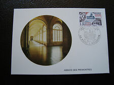 FRANCE - carte 1er jour 1/10/1977 (abbaye des premontres) (cy39) french
