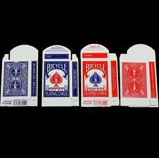 10pcs Empty Bicycle Playing Card Box Rider 808 Red/Blue Design Case Magic Tricks