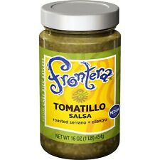 Frontera Tomatillo Salsa (Medium.)- - Case Of 6 - 16 Oz Glass Jars