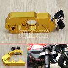 Motorcycle Handlebar Grip Brake Lever Lock Anit Theft Security Caps-Lock Gold AU