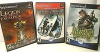 Lot 3 PS2 2 Games LEGION THE LEGEND OF EXCALIBUR, MEDAL OF HONOR FRONTLINE