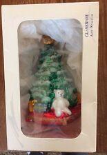 Glassware Art Studio Christmas Tree with Bear New