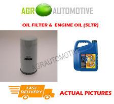 PETROL OIL FILTER + FS PD 5W40 ENGINE OIL FOR FORD GALAXY 2.3 140 BHP 2002-06