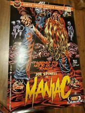 MANIAC Movie POSTER AUTOGRAPHED Lucio Fulci Eibon Press Elijah Wood Joe Spinell