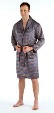 Men's Luxury Silky Satin Printed Pyjama Sets  Kimono Gown Size M up to 2XL Gift