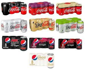 Coca-Cola Zero Sugar,Zero Cherry,Zero Vanilla,Diet Coke,No Caffeine,Sublime Lime