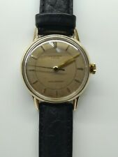 Vintage J.W. Benson Gents Watch 9ct Gold Case CYMA r.459 Swiss Movement 50's