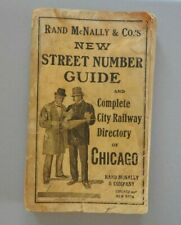 1919 RAND McNALLY GUIDE TO CHICAGO STREET NUMBERS CITY RAILWAY MAP guide map