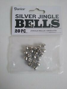 Silver Shiny Jingle Bells Small 6 MM .23 IN 20 Pieces Christmas Arts & Crafts