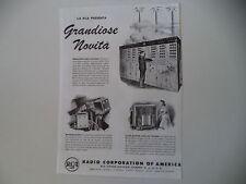 advertising Pubblicità 1944 RCA RADIO CORPORATION OF AMERICA - CAMDEN NEW JERSEY