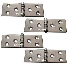 Charnière Rectangulaire 90x30mm Epaisseur 1,5mm inox A2 ( Lot de 4 )